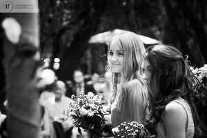 Blonde Bridesmaid smiling