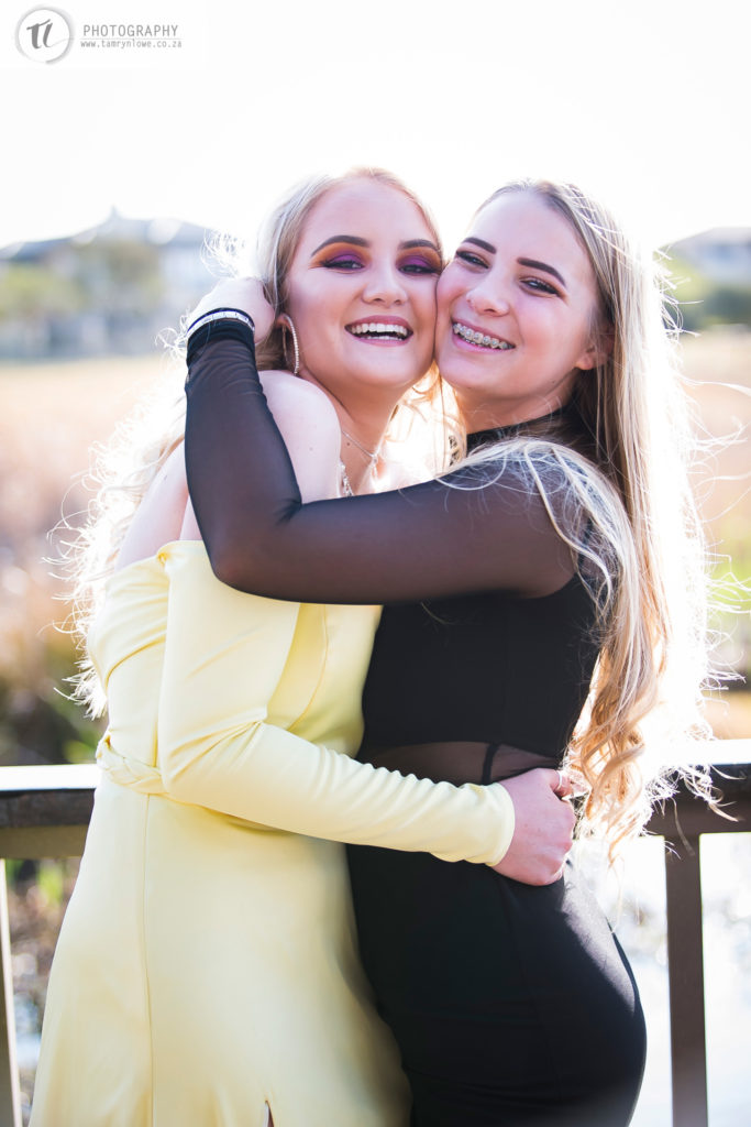 Two young ladies laughing