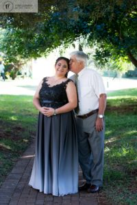 Matric Dance Photoshoot of young lady with her grandfather